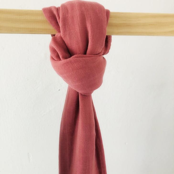 100% Dusty Pink Muslin Cotton Swaddle Blanket