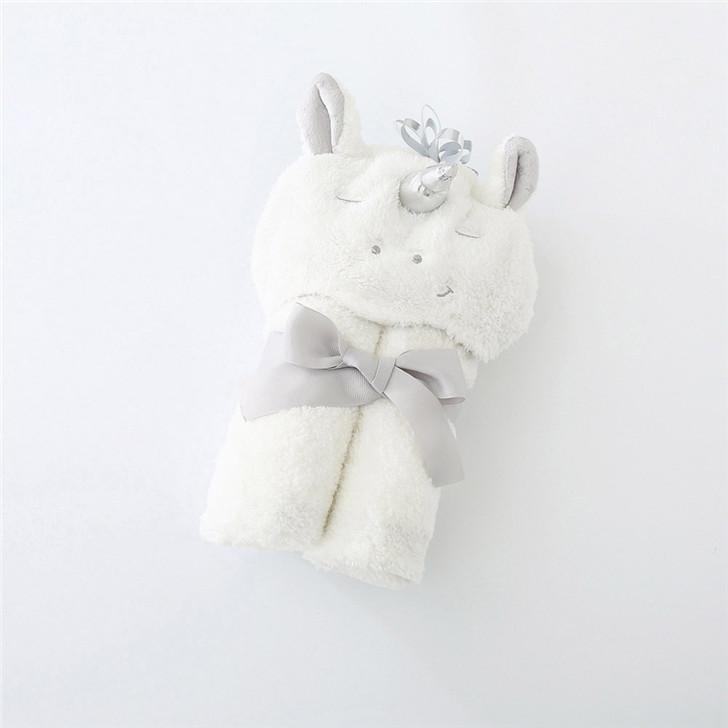 Baby White Unicorn Hooded Bathrobe