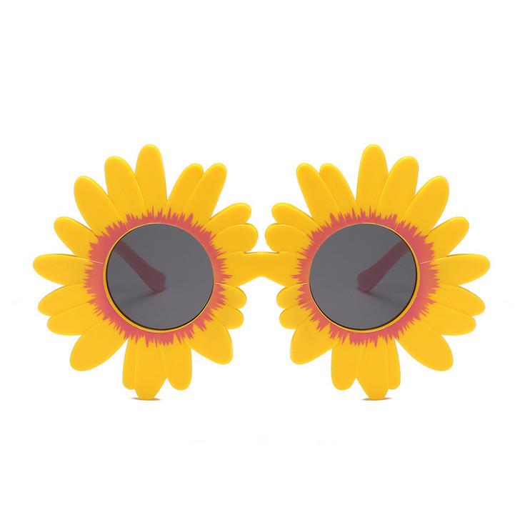 Yellow Sun Flower Round Cute kids sunglasses