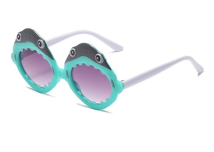 Black & Blue Shark Round Cute kids sunglasses