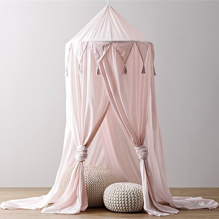 Pink Princess Canopy Curtains Baby Crib Mosquito Net