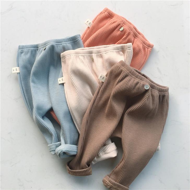 Baby Thread Elastic Leggings Cotton Pants