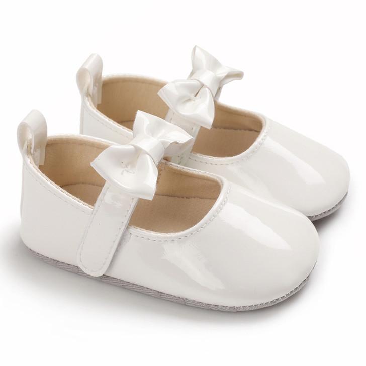 Baby Mary Jane Bowtie White Shoe