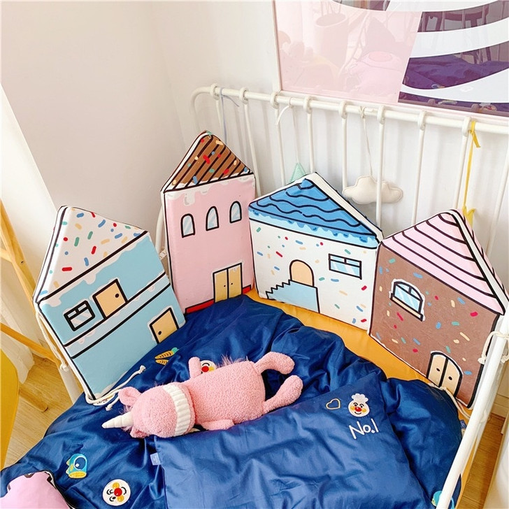 Baby Cotton House Shape Crib Bumper
