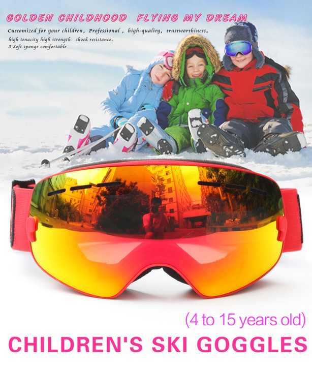 Kids Snowboard Goggles Double-Layer Lenses