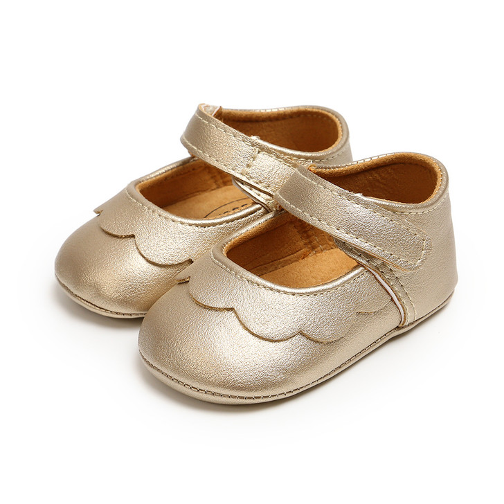 Baby Mary Jane Princess Leather Bronze Shoes