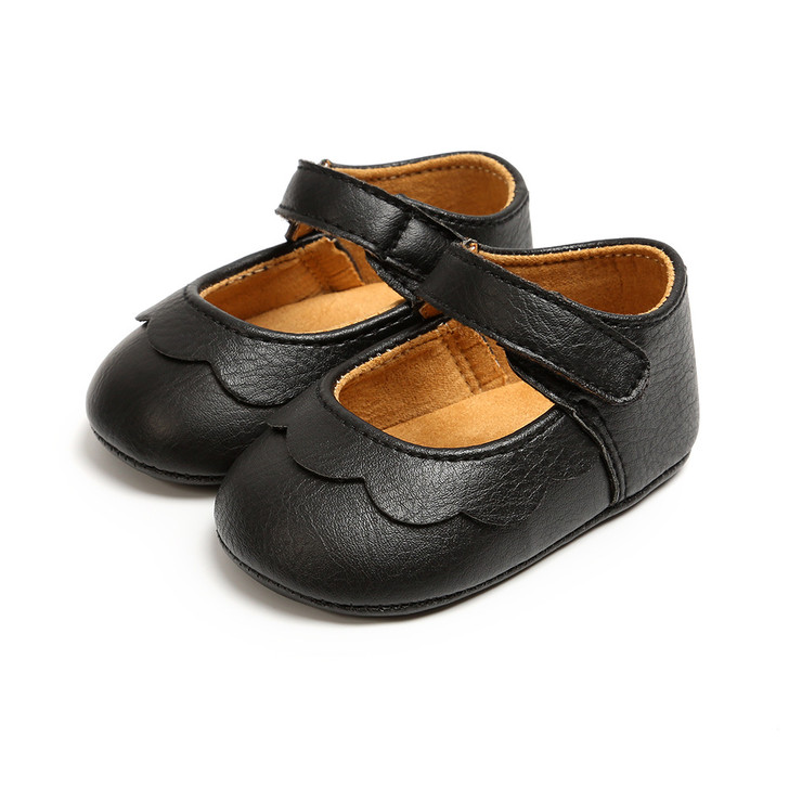 Baby Mary Jane Princess Leather Black Shoes
