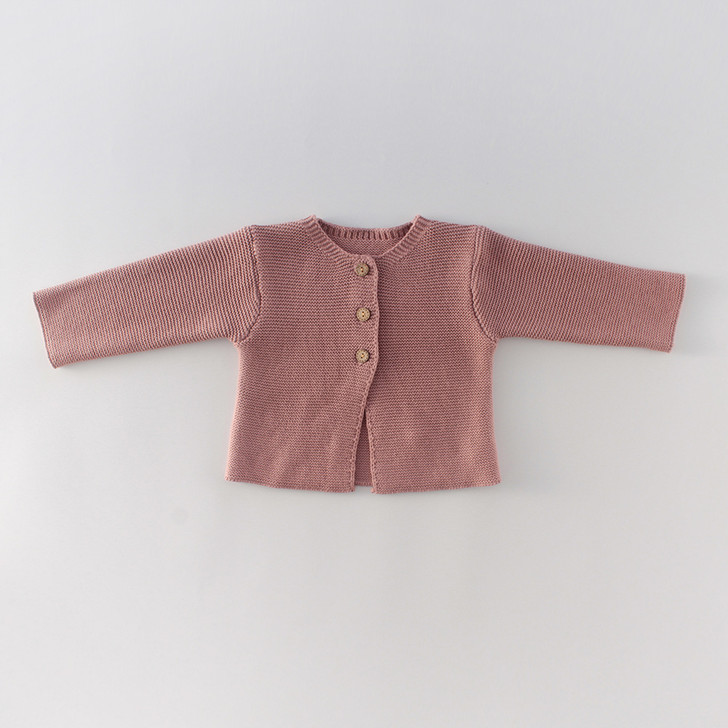Infant Knitted Flamingo Pink Cardigan