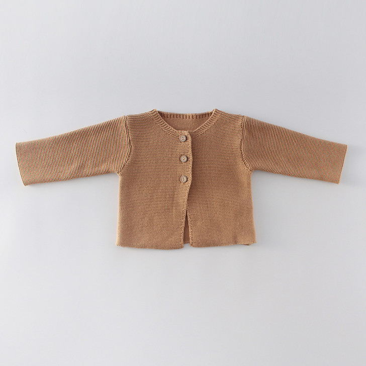 Infant Knitted Cinnamon Cardigan