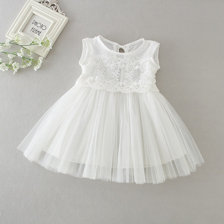 Christening Gowns with Lace Baby Girl Dress