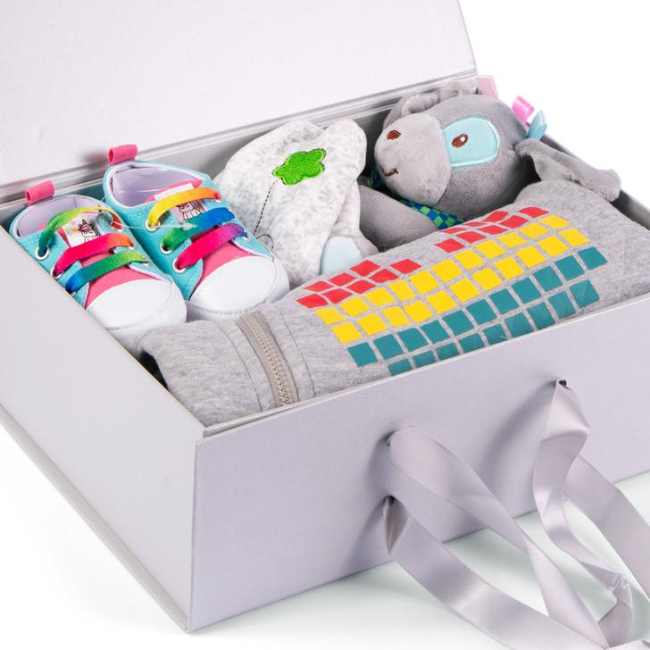 Baby Hamper Box 4 Pcs Grey Cute Outfit Set