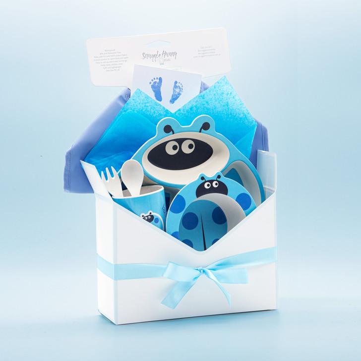 Baby Boy Hamper Box Blue Feeding Set