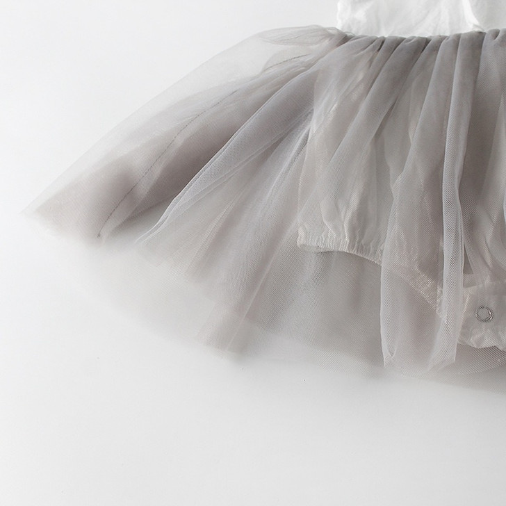 Baby Girl Sleeveless Doll Collar Chiffon Skirt With Headband