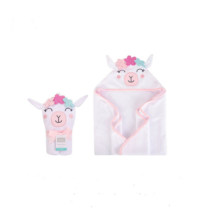 Baby Sheep Face Hooded Cotton Bath Towel