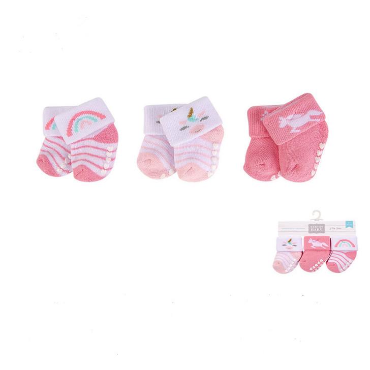 Newborn Baby Terry Socks with Non-Skid