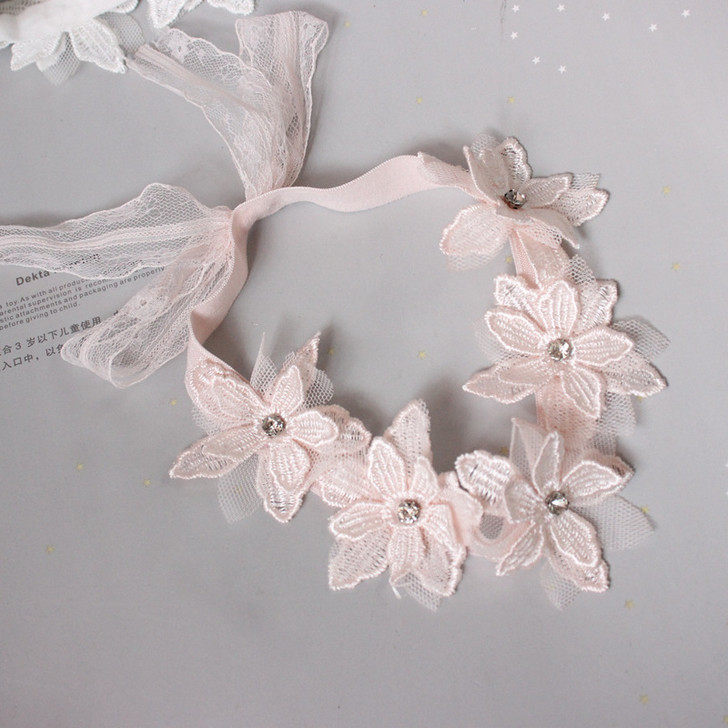 Baby Girl's Princess Flower Lace Hair Band