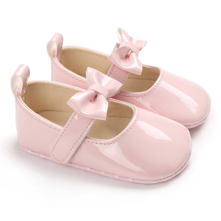 Baby Mary Jane Bowtie Pink Shoes