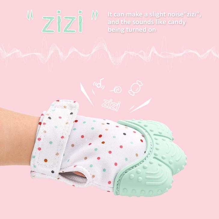 Baby Silicone Teether Mitten Glove