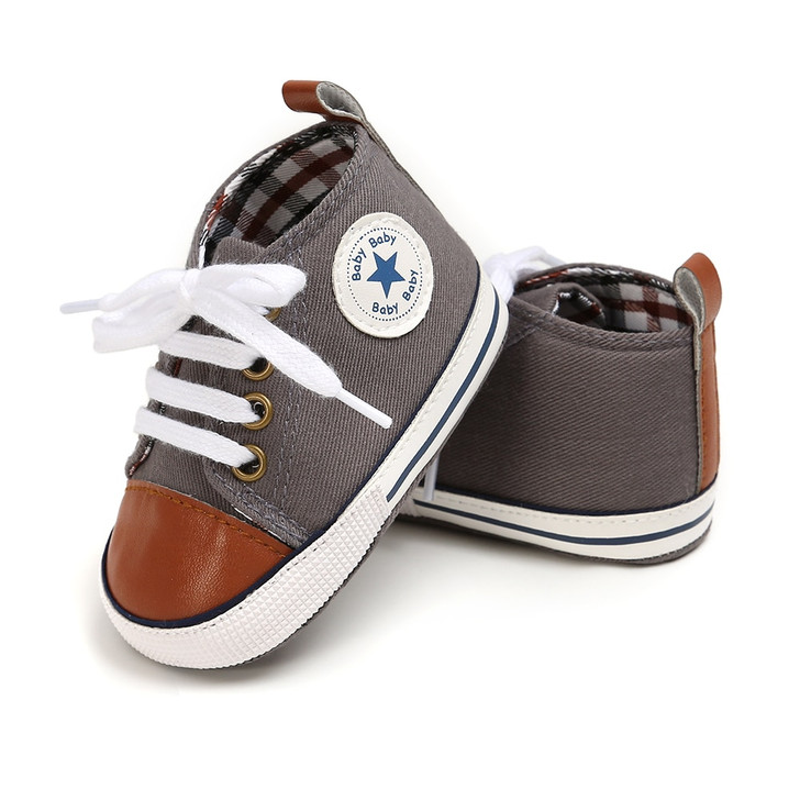 First Walkers Baby Shoes PU Canvas Shoes