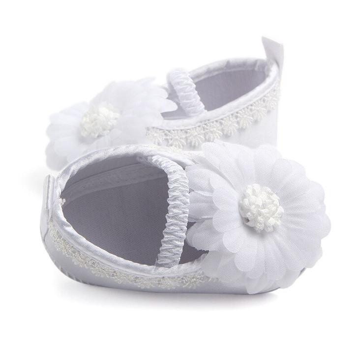 Sun Flower White baby Girl Shoes