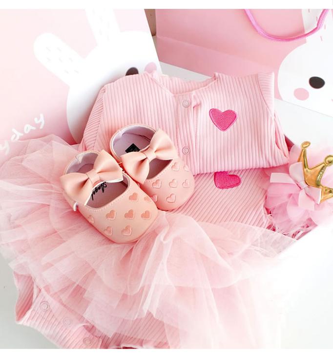 Pink Dress Baby gift box Set