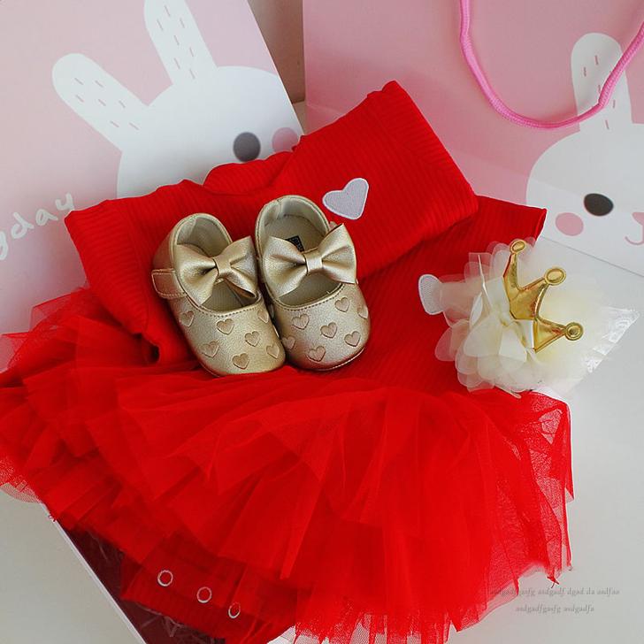 Red Dress Baby gift box Set