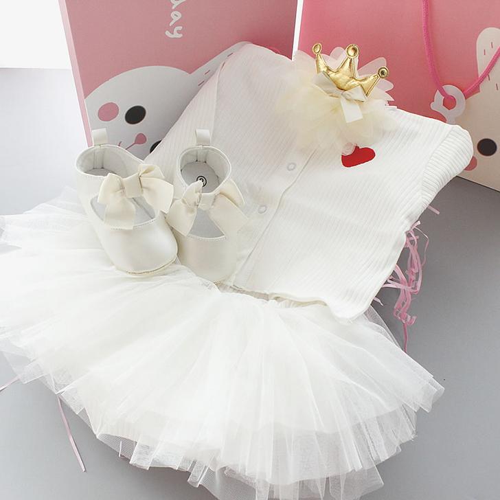 White Dress  Baby gift box Set