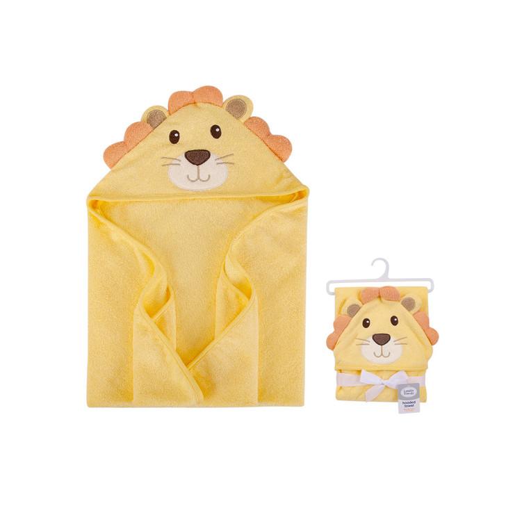 Little Treasure Hooded Towel  Yellow Lion