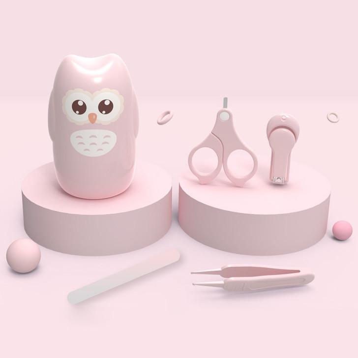 Baby Nail Kit 4-in-1 Kids-Owl-Pink