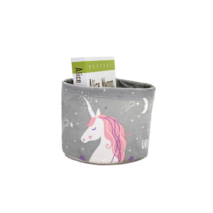 unicorn-grey-round-folding-storage-basket