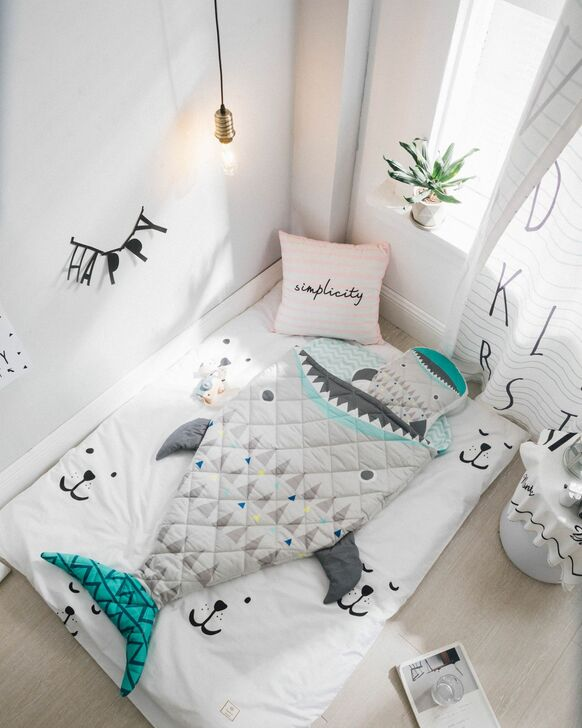 Shark Kids Sleeping Bag With Pillow