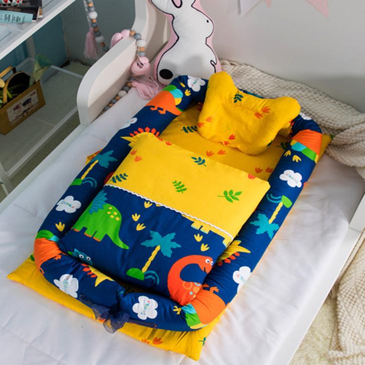 Set Dinosaur Portable Baby Bassinet