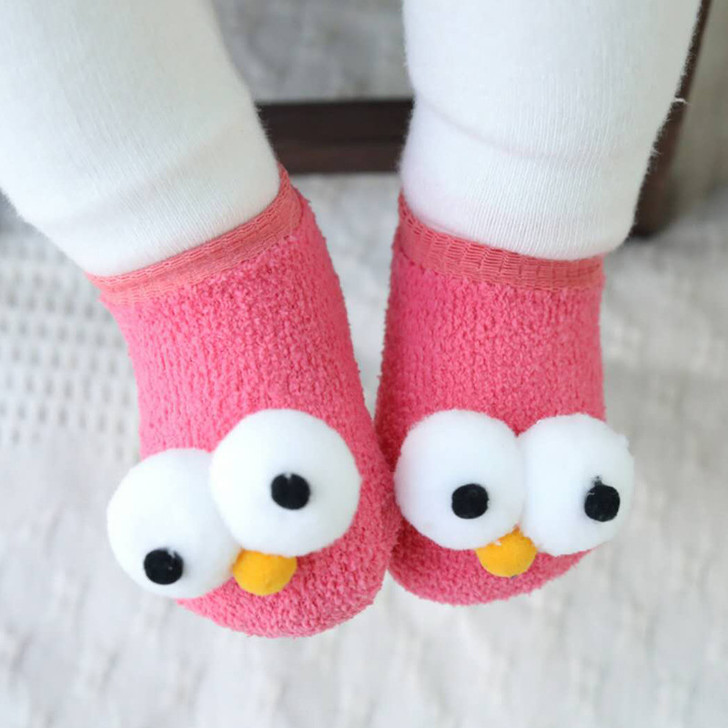 Baby Cotton Pink Socks Big Eyes