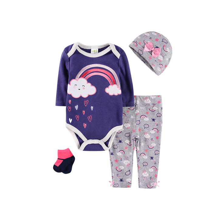 cotton-robe-four-piece-suit-0-1-year-old-baby-navy-blue-rainbow