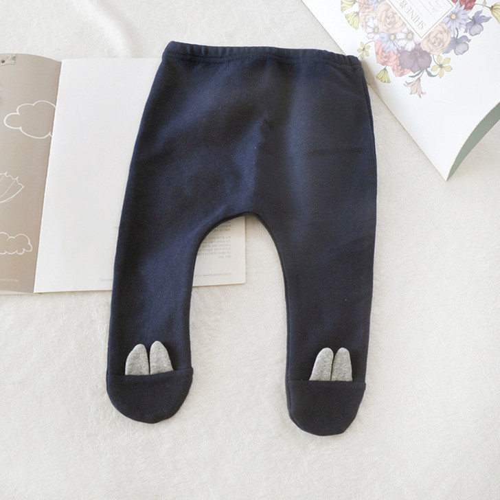 baby-dark-blue-stretch-leggings-cotton-foot-trousers