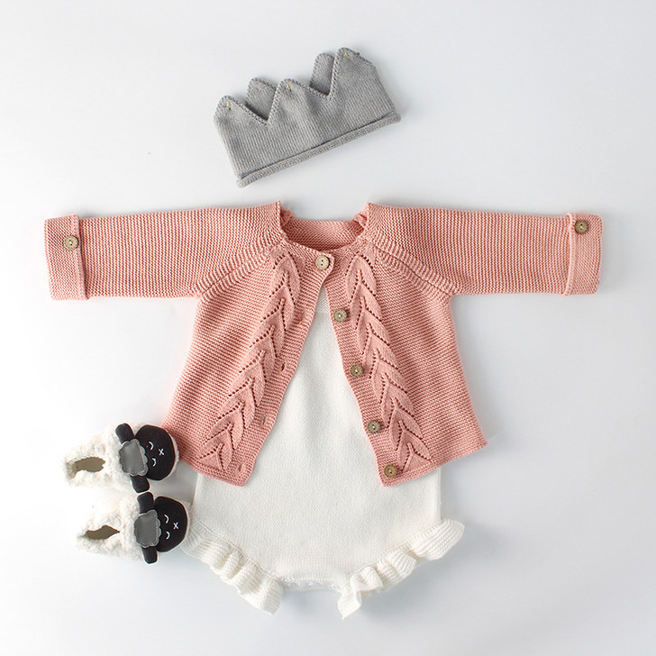 baby-suit-leaf-knitted-pink-jacket
