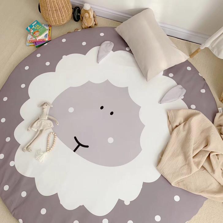 sleeping-sheep-grey-round-carpet