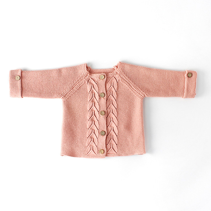 Baby Peach Color Cardigan 3to18 Month