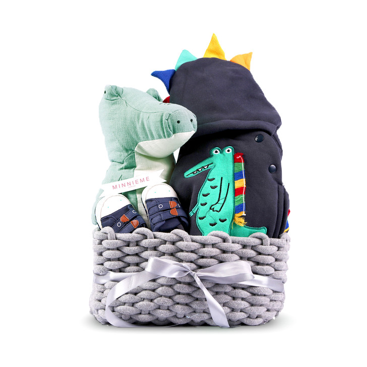 Cute Dinosaur Baby Hamper Outfit Set