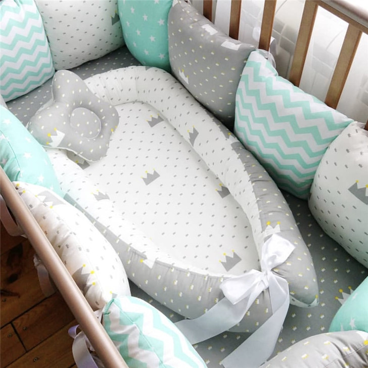 80*50cm Baby Nest Bed Portable Crib