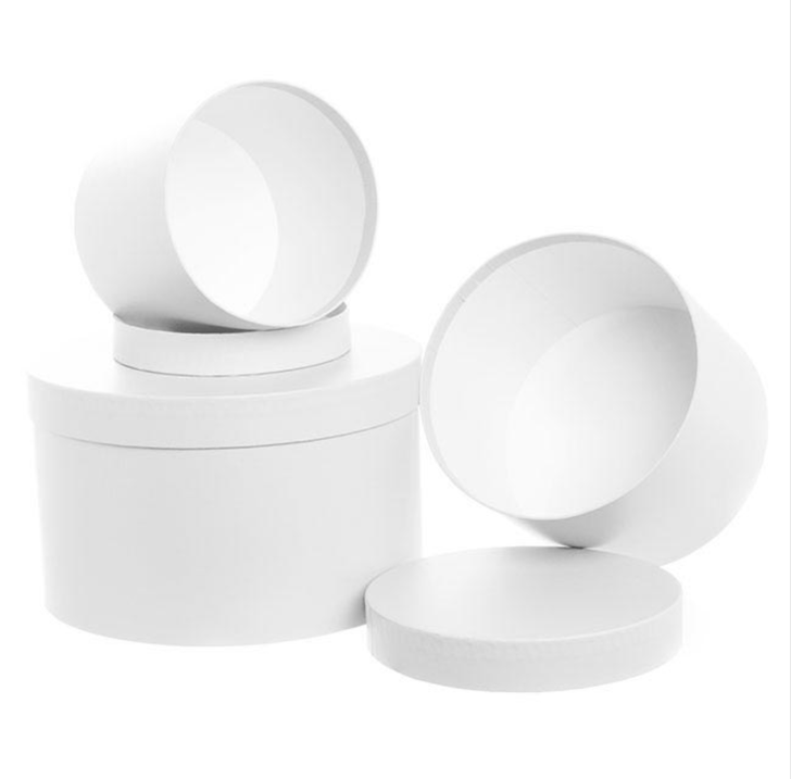 Gift Box Round White