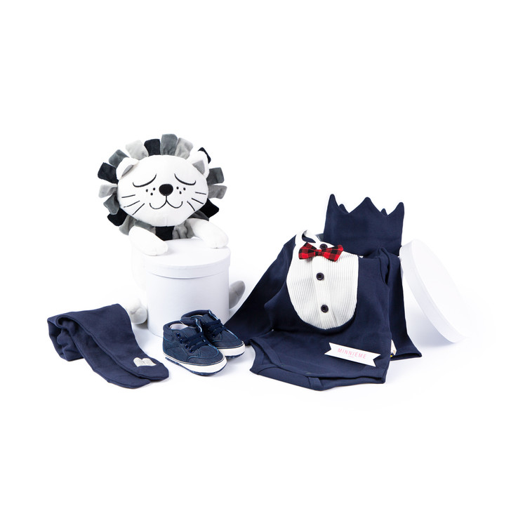 Baby Boy Hamper Gift Box Day Out Outfit navy blue Set