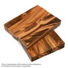"Legacy Goncalo Alves / Tigerwood Ebony Wood Pen Blank, 3/4"" x 3/4"" x 5"""