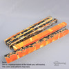 """Legacy Acrylic Project Blank, 1 1/2"""" x 21 1/2"""" Long - Bright Orange and Black with White Lines, Single Blank"""