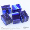 "Legacy Acrylic Bottle Stopper Project Blank, 1 1/2"" x 2"" Long - Ultramarine Blue with White Lines, Single Blank"