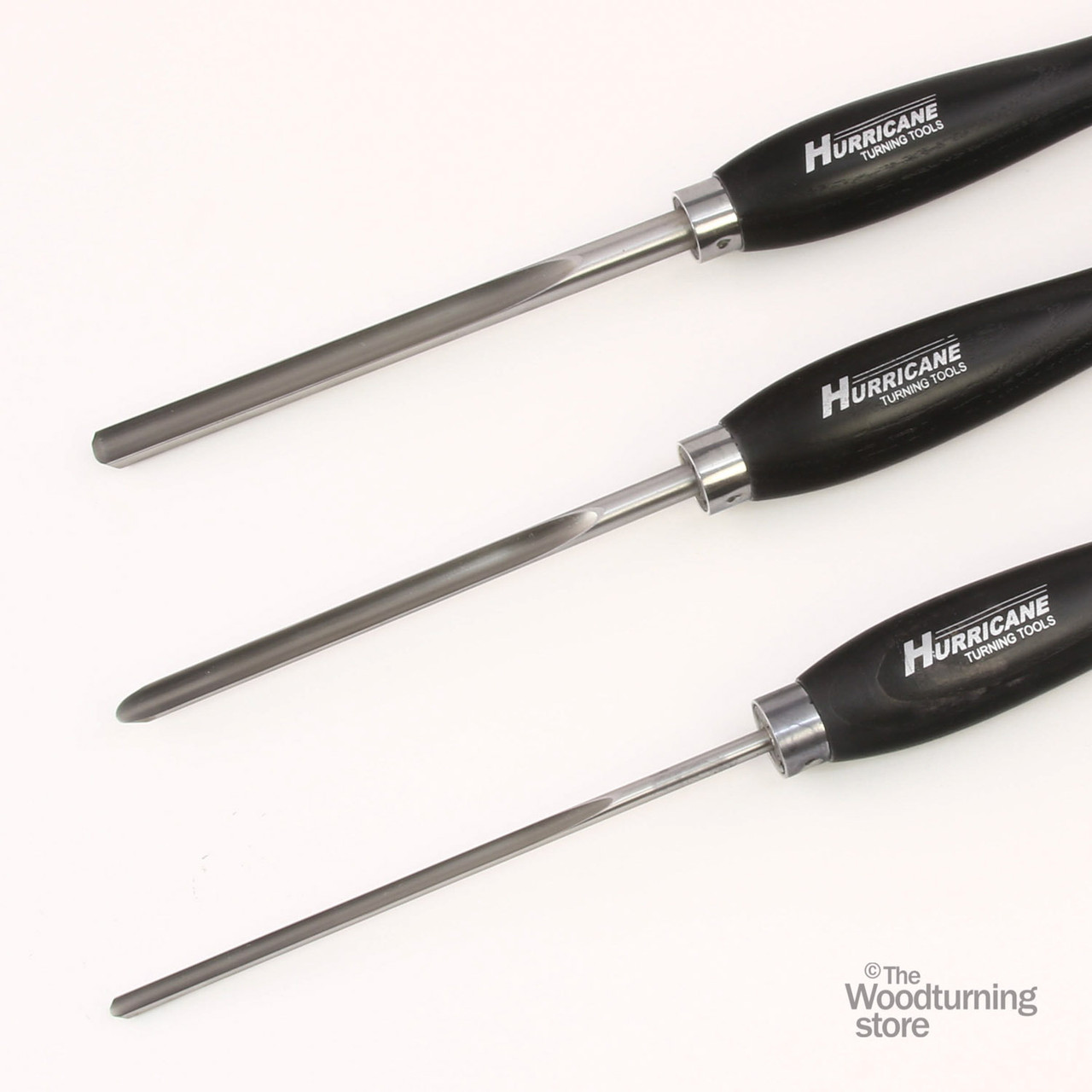 """Hurricane M2 Cryo, 3 Piece Spindle Gouge Pro Tool Set (1/2"""", 3/8"""" and 1/4"""" Flute)"""