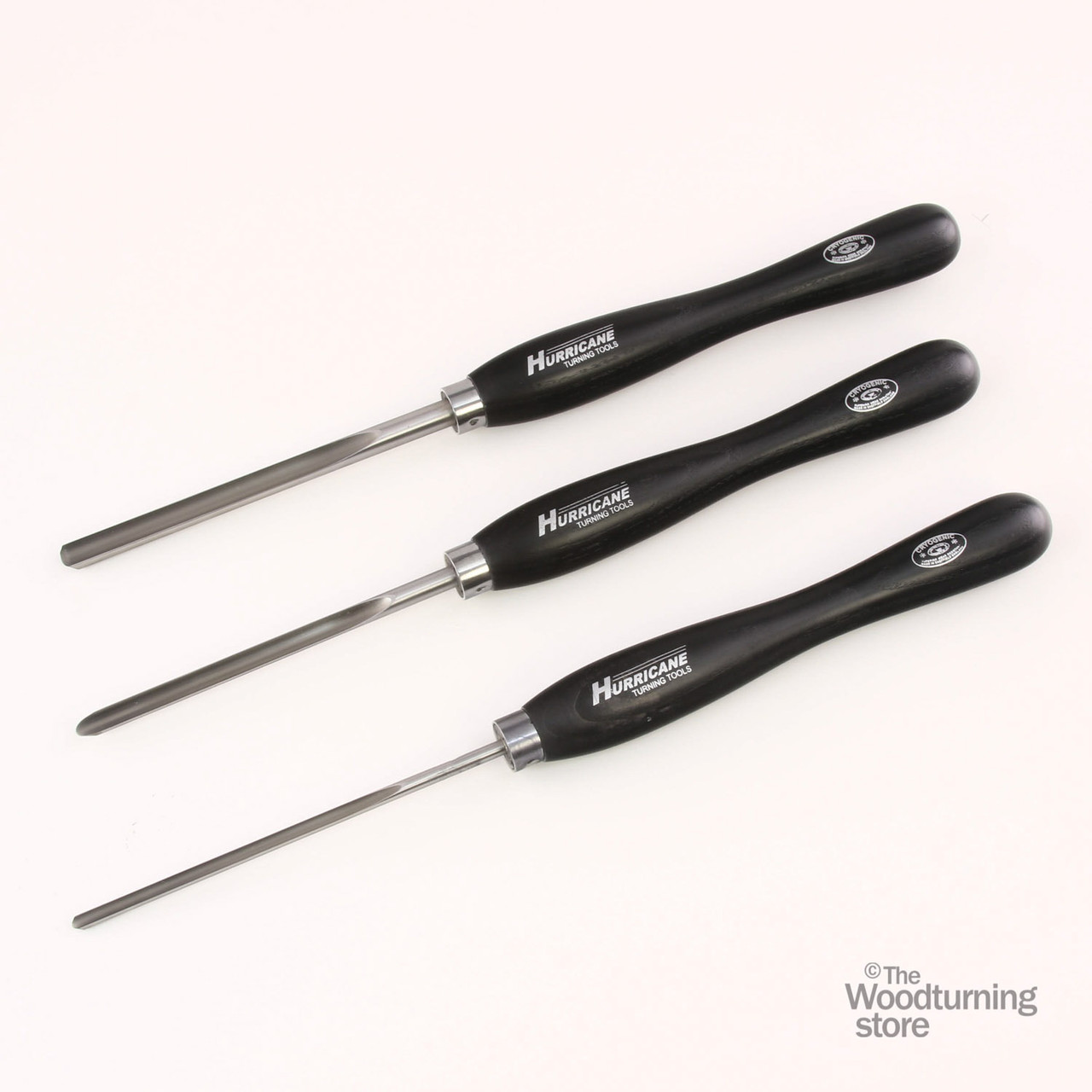 "Hurricane M2 Cryo, 3 Piece Spindle Gouge Pro Tool Set (1/2"", 3/8"" and 1/4"" Flute)"