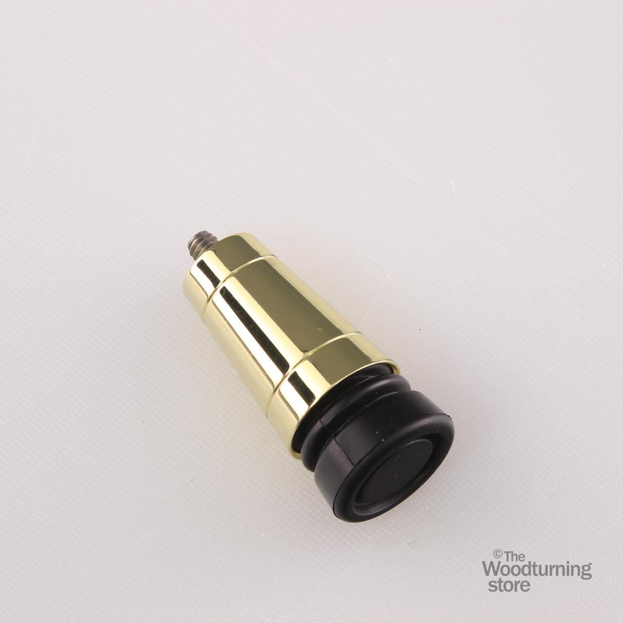 Medium Chrome Combo Cane and Walking Stick Tip