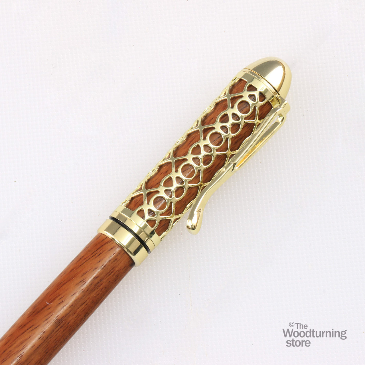 European style pen with filigree backing