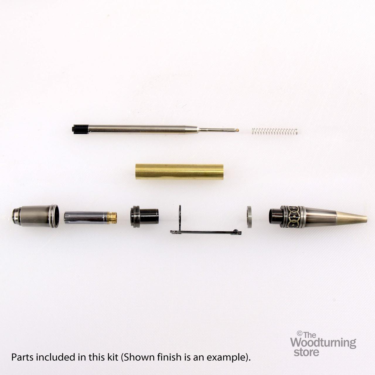 Legacy, Da Vinci Twist Pen Kit - Antique Bronze and Gun-Polish